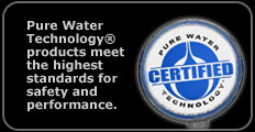 PHSI Pure Water Technology products are certified to the hightest industry standards